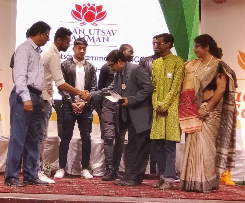 Receiving Daan Utsab Samman Award today.