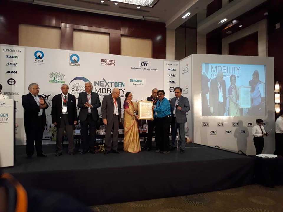 With QCI-DL Shah Quality Award in the Second Regional Quality Conclave at Hyatt Regency, Pune