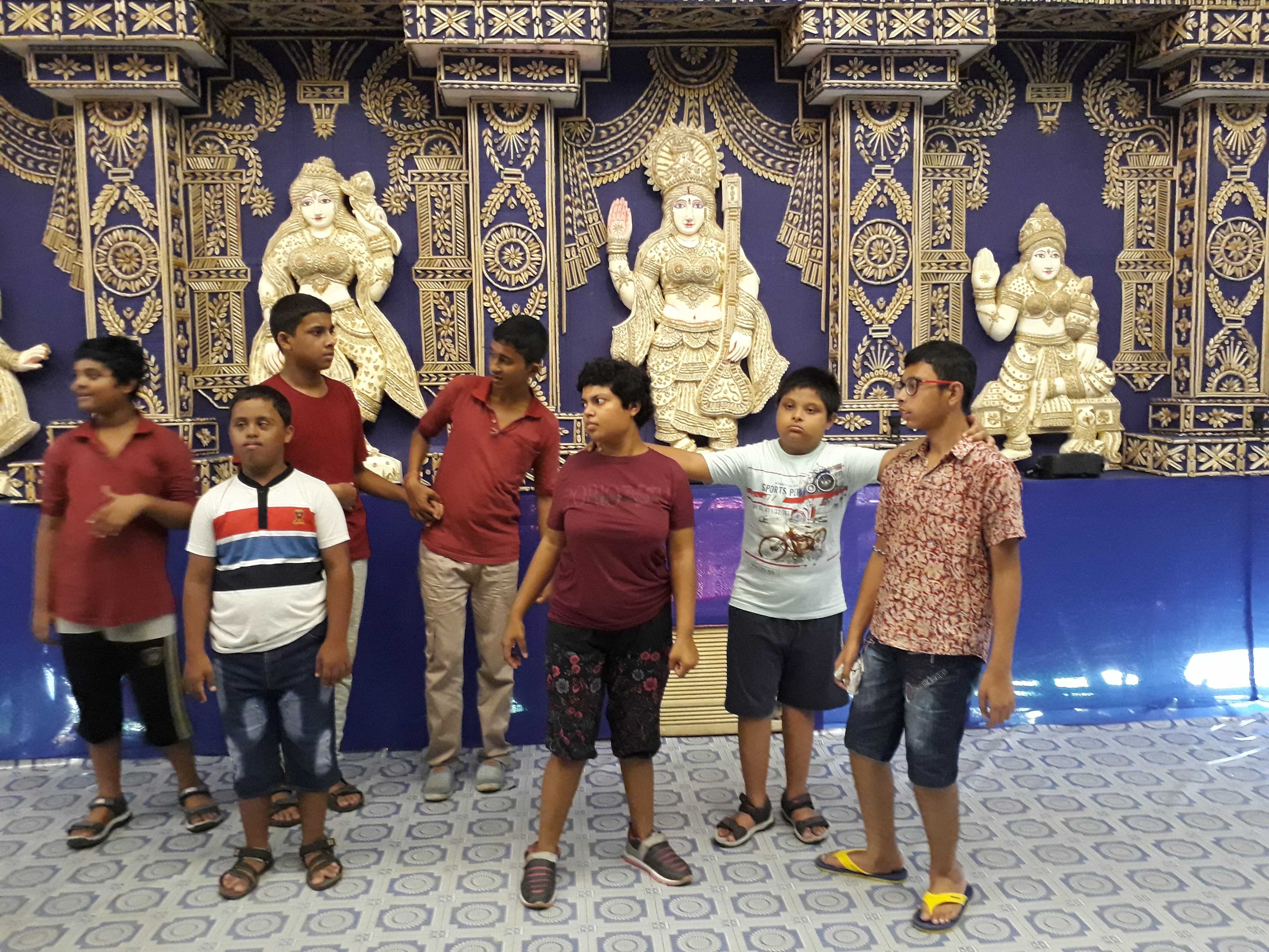 Our beneficiaries enjoyed pandal visit with their friends and teachers and we visited eight different pandals in and around Kalyani including best puja at ITI more