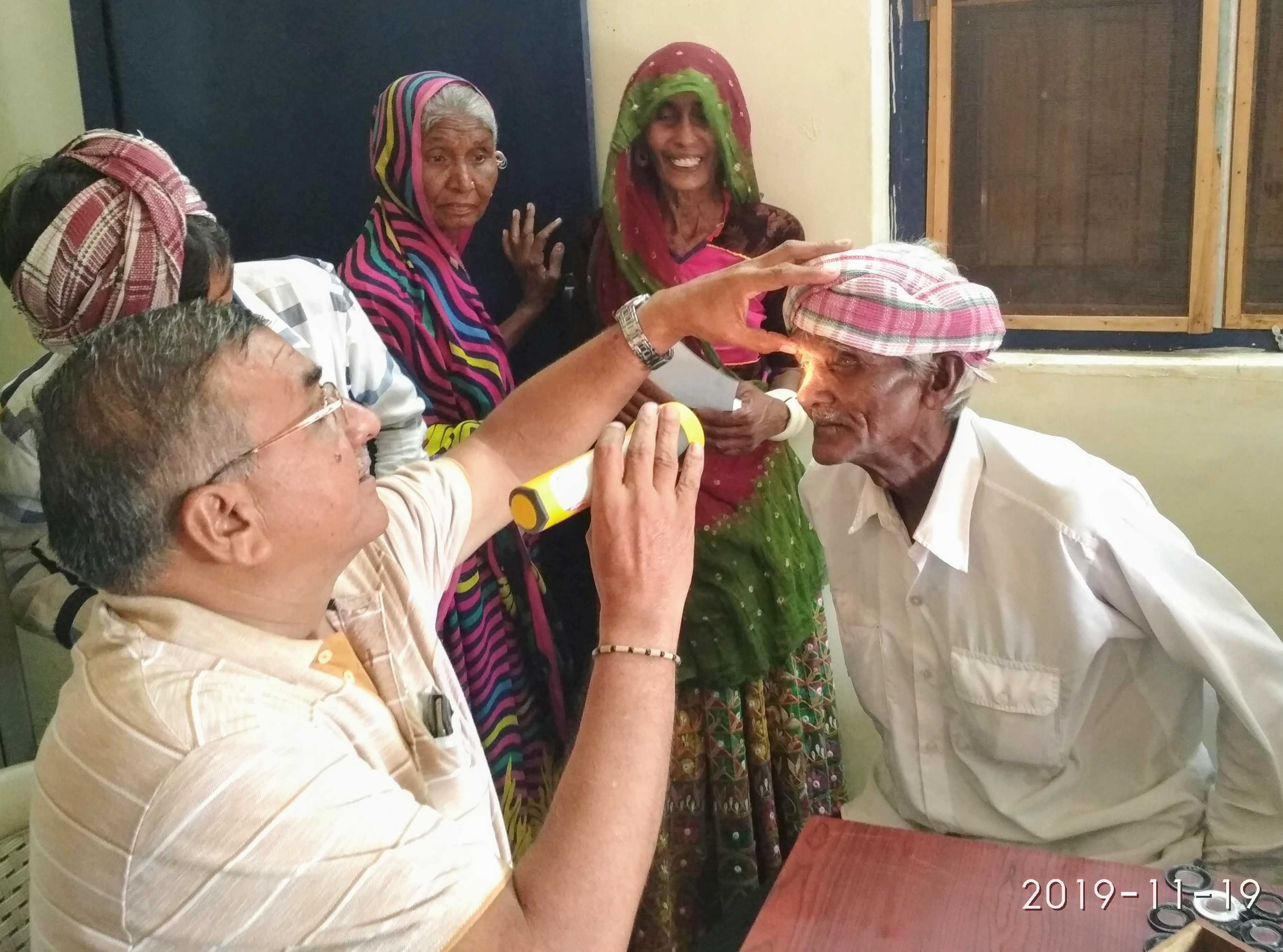 EYE CAMP AND SPECTACLES DISTRIBUTION AT VILLAGE HEBATPUR IN SURENDRANAGAR DISTRICT DASADA TALUKA , Gujarat on 19th Nov 2019 The total population of village is 1800 out this 166 village people attended for eye check-up of which 77 male and 89 female that includes 58 senior citizens (28 male and 30 female) 10 of them has cataract hence advice for surgery and will facilitate them for the operation at Viramgum Lion club.