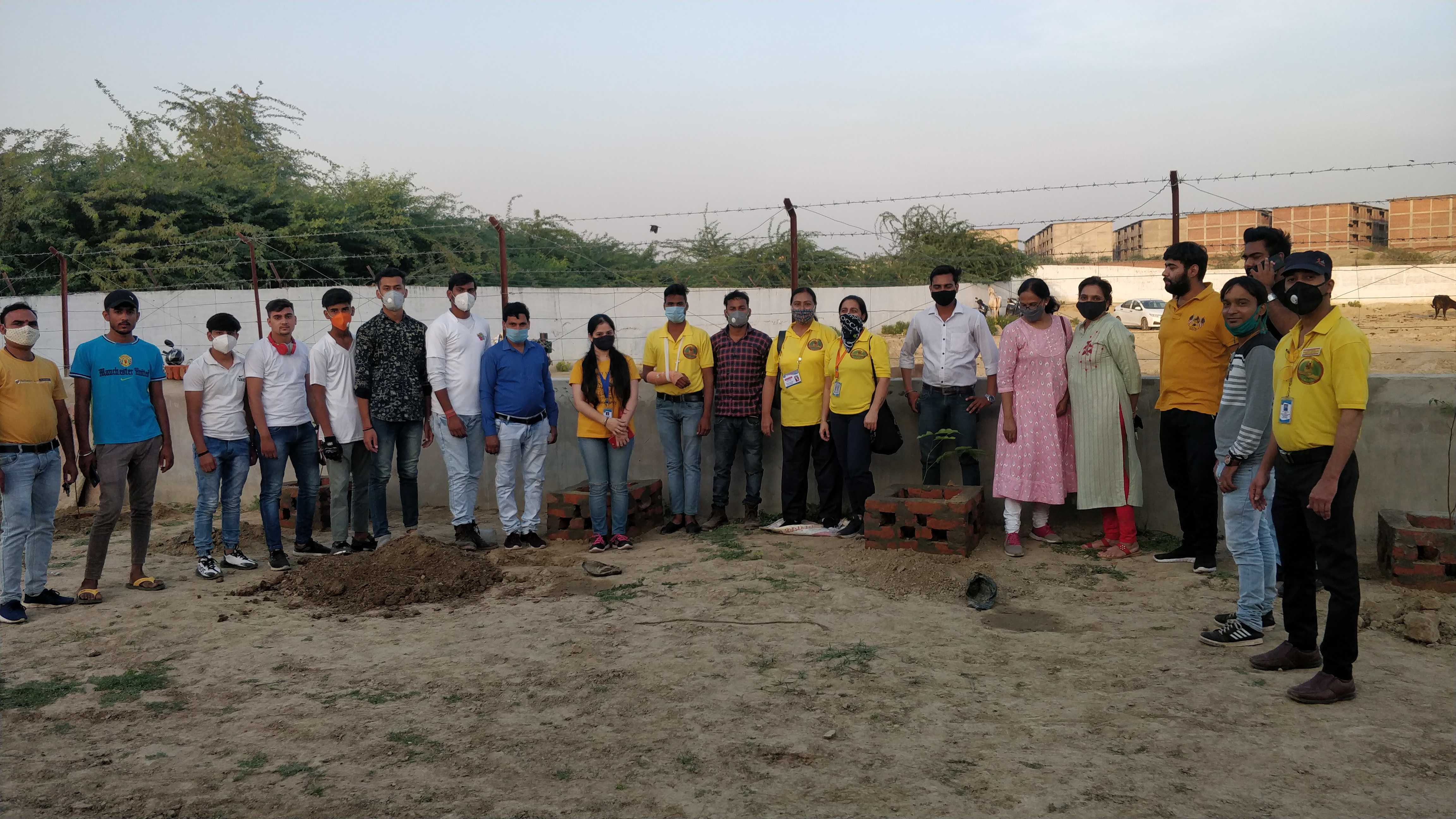 "We had a plantation drive at the new shelter premises on 11th October. Dr. Meeta Kulshreshtha of the Unfold Foundation was kind enough to donate the trees and oversee the plantation. the team from Ek Kartavya joined us for the ""shram daan""."