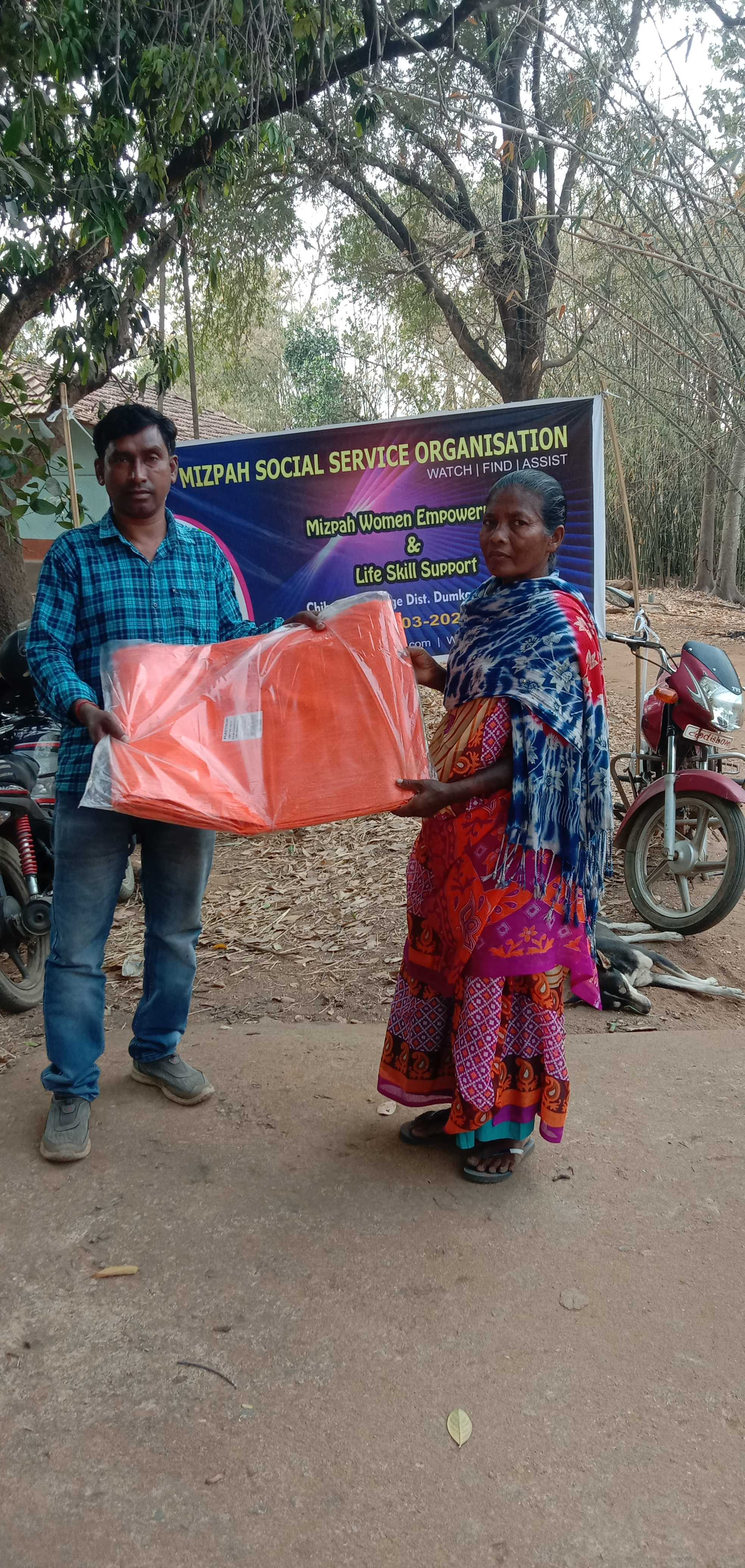 As part of women Empowerment & life skill support project of Mizpah Social Service Organization give away sewing machines , Plastic chair and mat for needy and vulnerable women at the village of Chirabani , ar Dhumka District , Jharkhand. on 21st March, 2021. MSSO is working for the needy and vulnerable to be self sustained in the length and breadth of India beyond cast, creed or religion. MSSO is very active with their works especially among women and children in the villages of Dumka district in Jharkhand.
