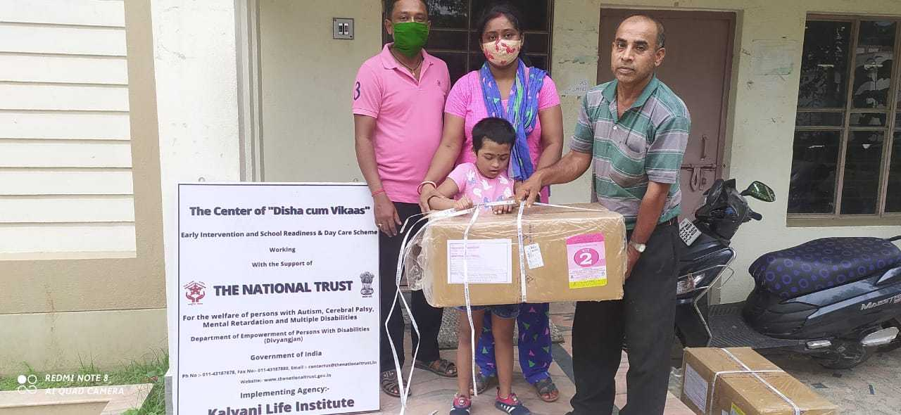 National Trust has distributed thirty Teaching and Learning Materials kit to Disha cum Vikaas beneficiaries of Kalyani Life Institute.